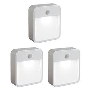 Battery-Operated Indoor/Outdoor Motion-Sensing LED Step Light, set of 3.  Might be good for dark stairs or garden paths.  Give em a hypertufa shell.