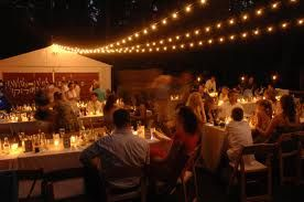 lighting for outdoor wedding reception