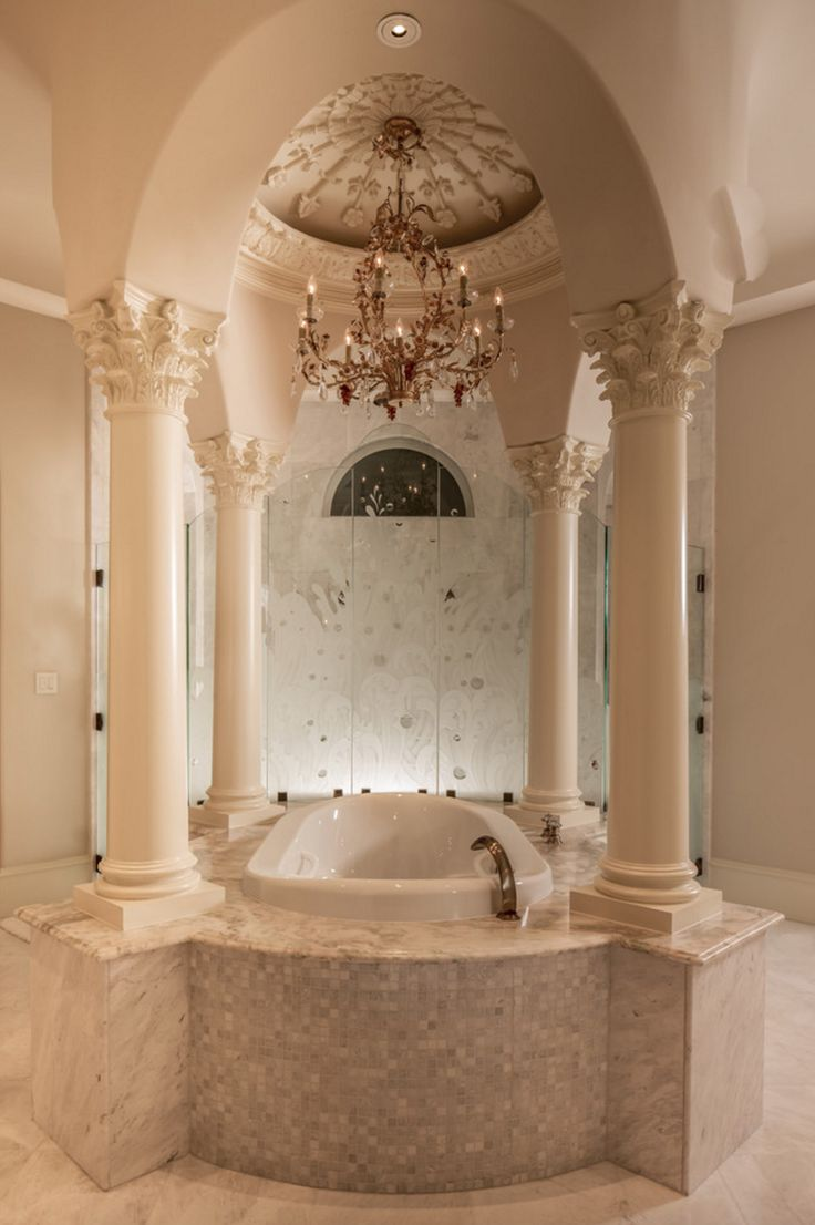 How luxurious is this bathroom  beautifully designed with one of our tubs   the Amma254 best Luxury Life images on Pinterest   Luxury life  Room and  . Luxurious Baths. Home Design Ideas