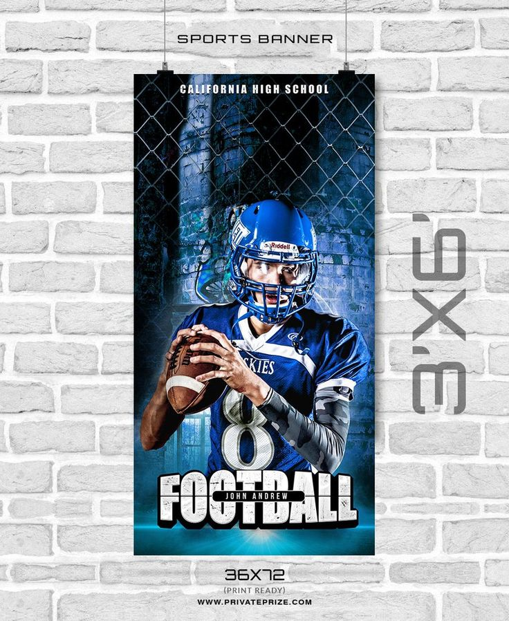 John Andrew - Football Enliven Effects Sports Banner Photoshop Template