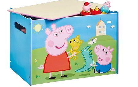 Baúl juguetero Peppa Pig de madera. 474PEL, IndalChess.com Tienda de juguetes online y juegos de jardin