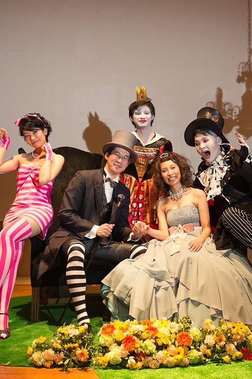 Stage/髙砂 / crazy wedding / ウェディング / 結婚式 / オリジナルウェディング/ オーダーメイド結婚式/不思議の国のアリス/Alice in Wonderland