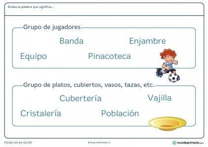 Ficha de encontrar la palabra para estos objetos para primaria