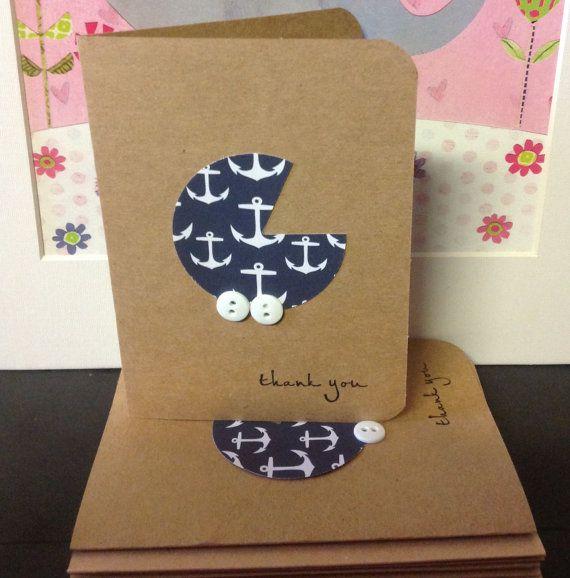 Anchor Thank  You Cards Baby boy Congratulations by HappyScrappy1
