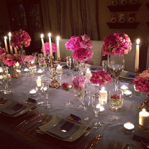Elegant Dinner Party Table Setting Theenvisionfirm