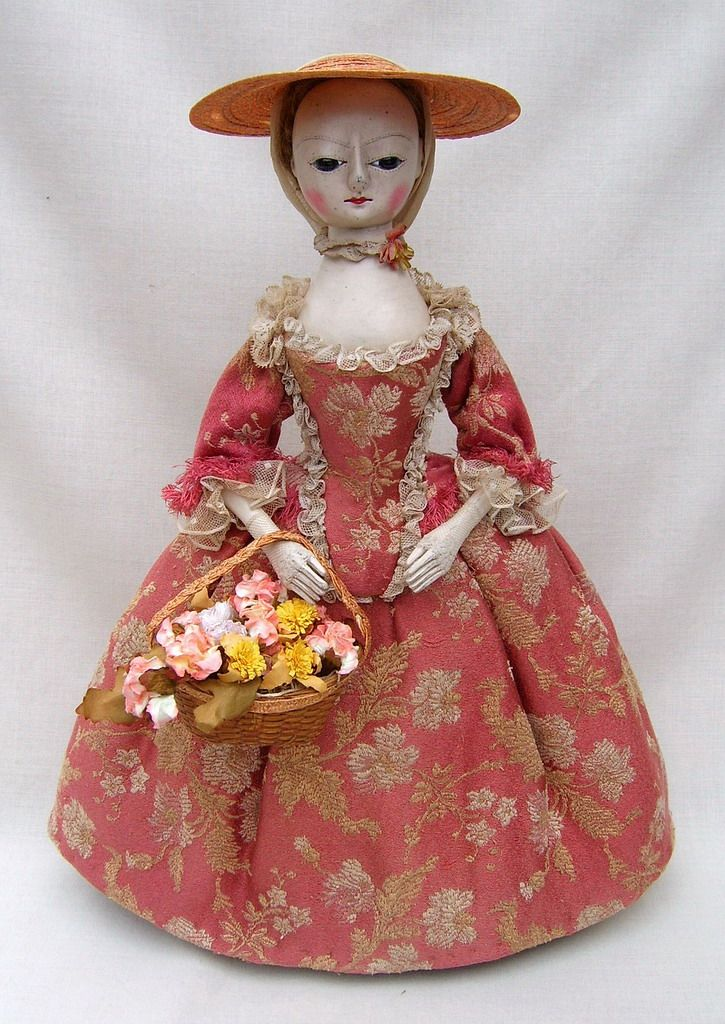 pretty reproduction 18th century-style doll