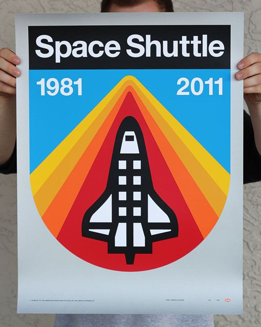 Space Shuttle poster by Aaron Draplin (found via Design Work Life)