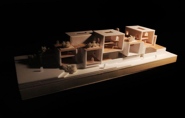 """홍익대학교(서울) 2학년 고영준 """"홍익대학교 갤러리 프로젝트"""" 모형 사진  architecture model"""
