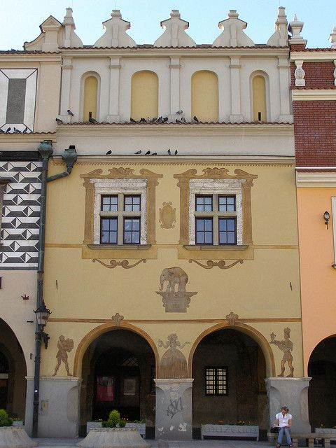 A house in Rynek (Market Square), Tarnow, Poland