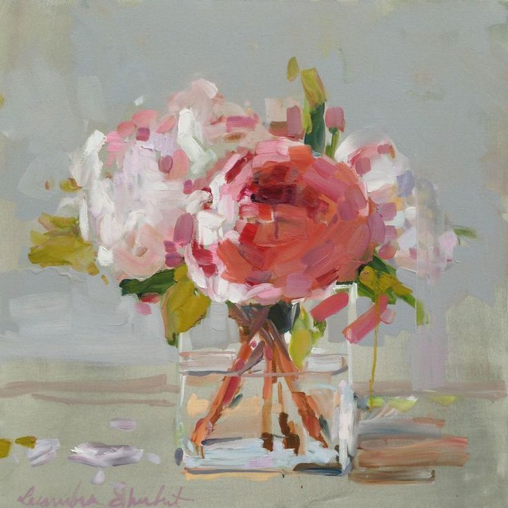 Peonies in Glass. Laura Shubert. Fabulous florals