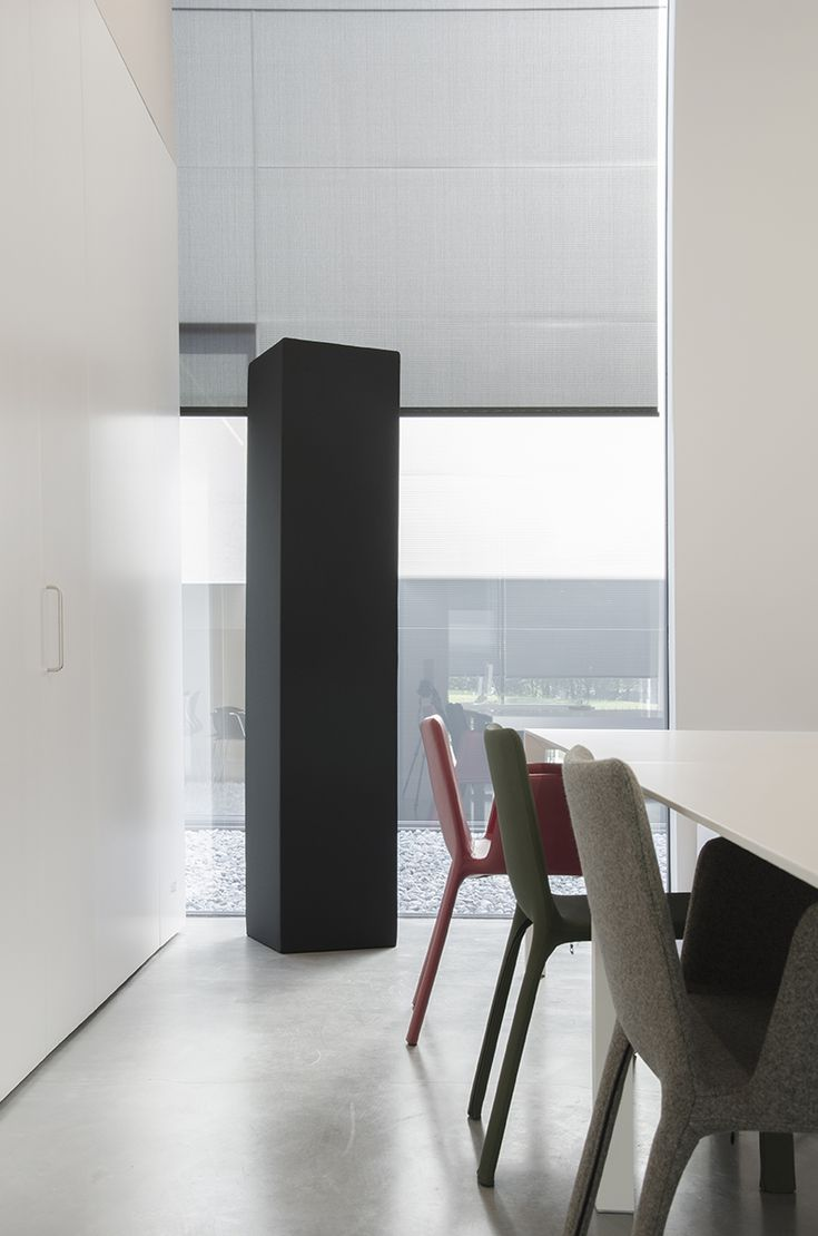 Kristalia acoustic comfort with Menhir sound absorbing elements by Caruso Acoustic