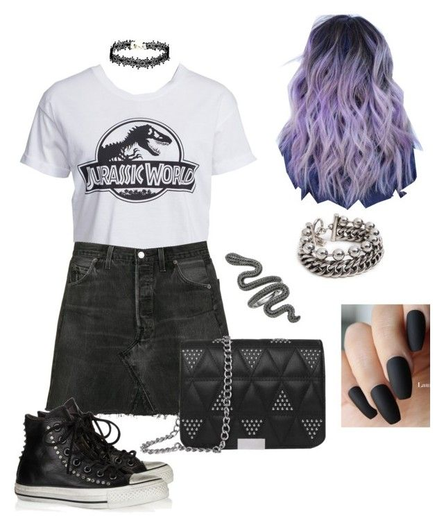 She Got A Black Skirt And Bauhaus Stuck In Her Head By Ohmsbeliever5 Liked On Polyvore Featuring New Look Re Done Conver Black Skirt Fashion Cool Outfits