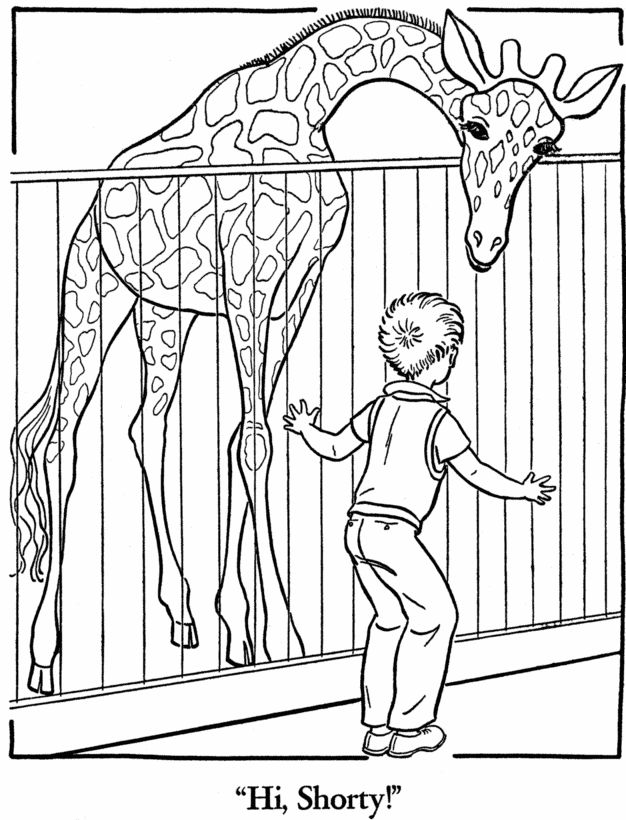 Zoo Animal Coloring Page Free Printable Giraffe Pages Featuring Wild Sheets