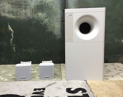 bose jewel cube speakers for sale. cool bose acoustimass 3 series iv speaker system white with 2 ub-20b wall mounts jewel cube speakers for sale