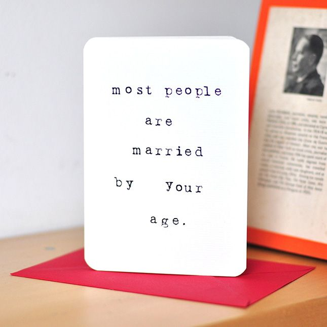 This is quite a harsh Valentine's Day card, no?!