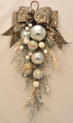 elegant christmas ornaments | Elegant Christmas - Stunning Ornament and Crystal Christmas Swag. $49 ...
