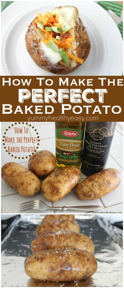 How to make the PERFECT baked potato right in the oven! My family's very favorite way to make baked potatoes! It's simple, easy and the results are incredibly delicious! The softest skins with perfectly cooked insides! Let me show you how to do it... (baking potato how to)