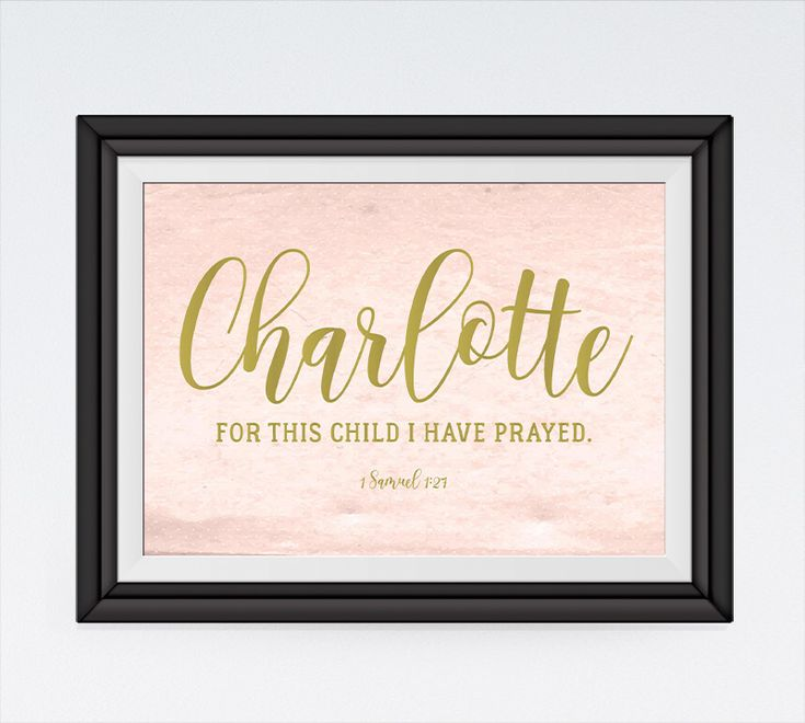 For this child I have prayed  1 Samuel 1:27 (Customize this print with your child's name)  What a strong and moving sentiment from the Bible! It will be a beautiful message to add to your children's room decor or as a good gift for someone you love. Hannah's life illustrates that God does indeed hear and answer the prayers of those who come to Him in faith. Despite the traumas we may face in the world around us, God is always there to help.  #forthischildiprayed #personalizedprint…