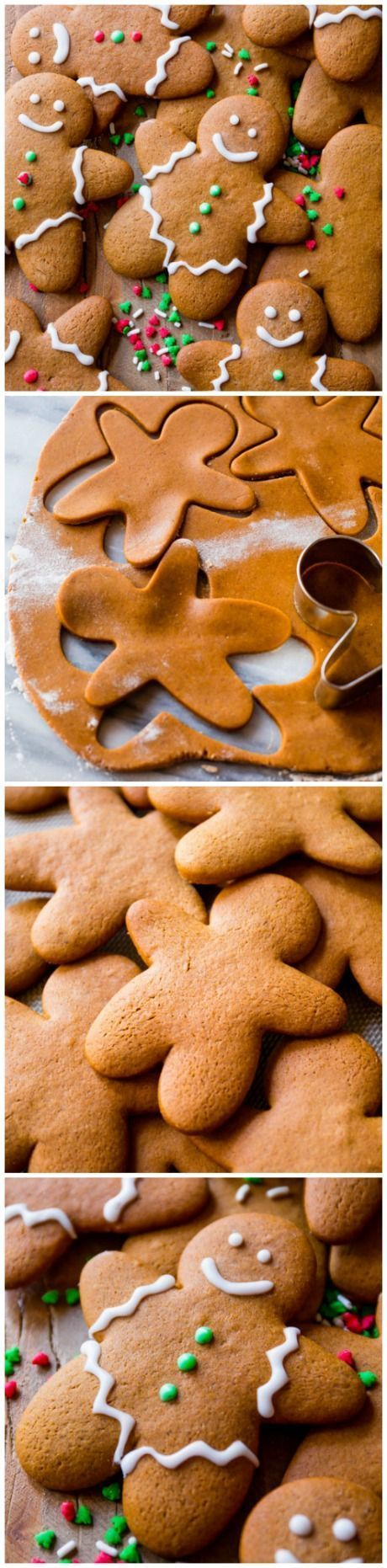 Here is my favorite gingerbread men recipe! Soft in the centers, crisp on the edges, perfectly spiced, molasses and brown sugar-sweetened holiday goodness. Recipe on http://sallysbakingaddiciton.com