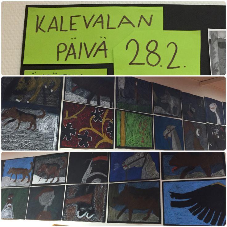 Kalevalan päivä: yksityiskohtia Akseli Gallen-Kallelan Kalevala -aiheisista teoksista.