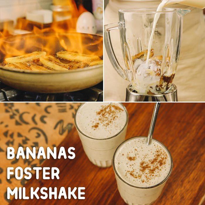 Bananas Foster dessert goes for a milkshake spin. Bananas Foster ...