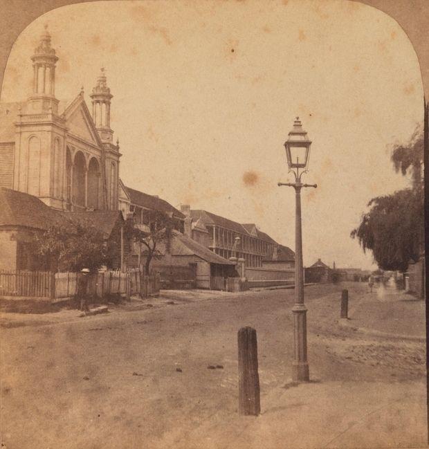 Macquarie Street South in Sydney in 1859.