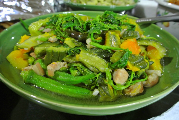 Cooking on our last night in the Philippines: Pinakbet (vegetables)