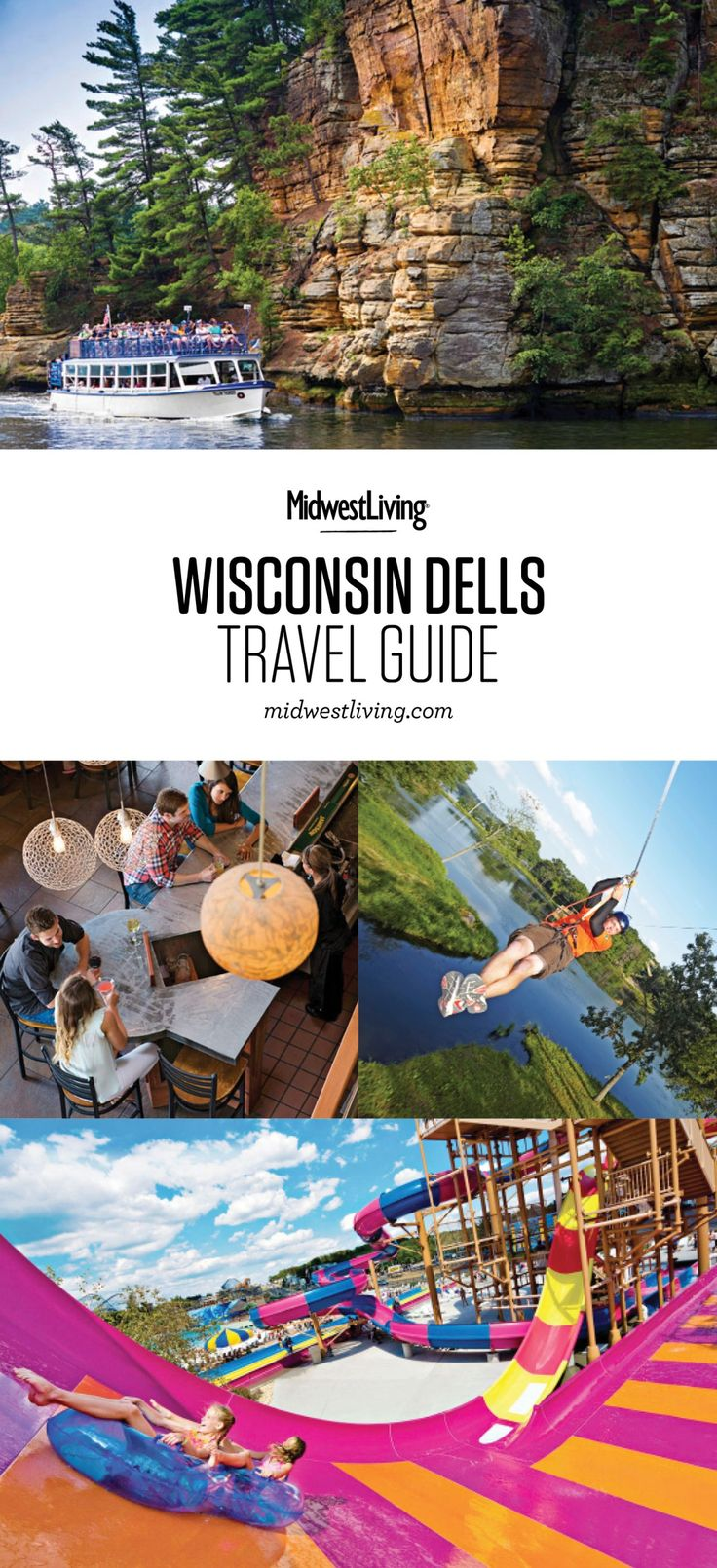 It's all about getting on the water in the Dells. Boat tours introduce today's visitors to what first drew tourists to this region, and water parks thrill them with wave pools and towering slides. Check out our picks for what to do, where to eat and where to stay in the Wisconsin Dells.