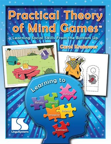 Practical Theory of Mind Games. (TOM) Ages 4 - 12. Autism. Building Social Skills from the Bottom Up. Dramatically improve your students' ability to infer and predict behavior, take another person's perspective, and understand his intentions in step-by-step lessons.