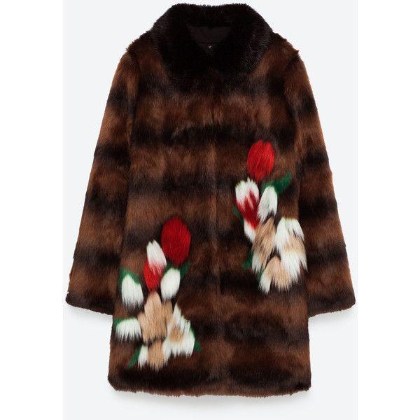 FAUX FUR COAT - NEU-DAMEN   ZARA Deutschland ($65) ❤ liked on Polyvore featuring outerwear, coats, imitation fur coats, faux fur coat, brown coat, fake fur coat and faux fur coats