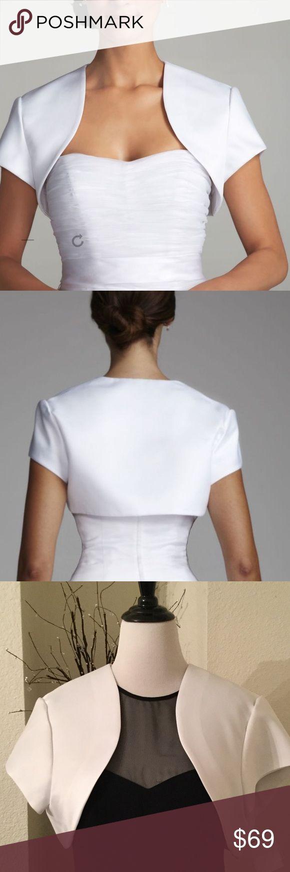 NWT: Satin Bolero Jacket Beautiful satin fully lined bolero jacket David's Bridal Jackets & Coats