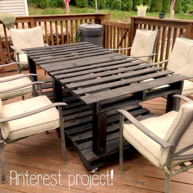 pinterest project pallet table jennifer pinterest. Black Bedroom Furniture Sets. Home Design Ideas
