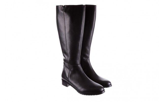 Bayla 130 5027 Czarne Kozaki Czarne Kozaki Oficerki Bayla Wykonane Z Naturalnej Skory Licowej Na Niewielkim Obcasie Heels Rain Boots Boots