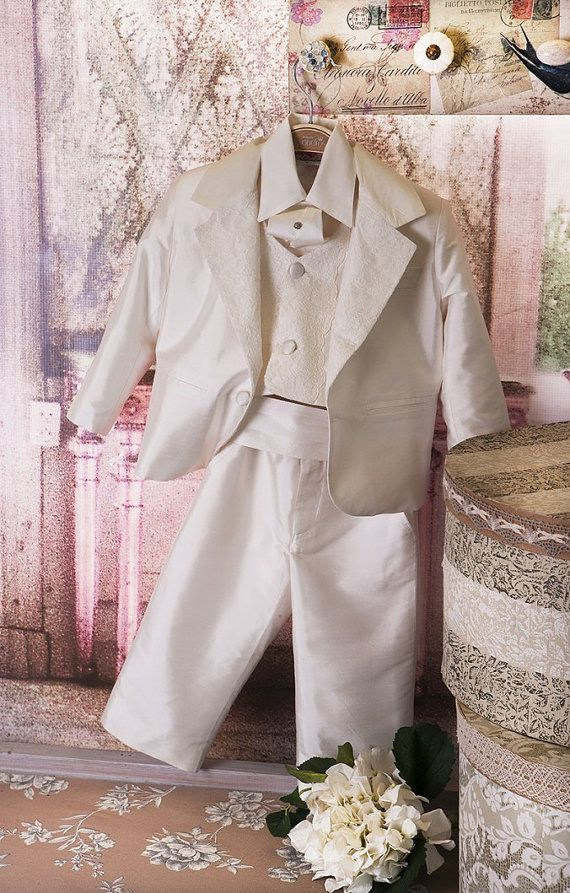 Silk Christening Suit Baptism Suit Sty.No G by StyledByAlexandros