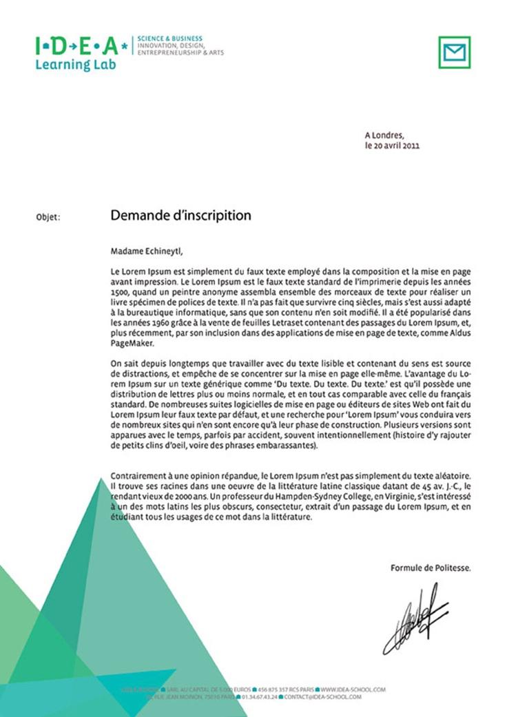 / IDENTITÉ VISUELLE & DÉCLINAISON PRINT /   / IDENTITÉ VISUELLE & DÉCLINAISON PRINT/ Déclinaison de l'identité I.D.E.A. : papier à en-tête