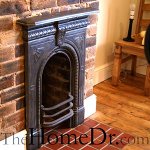 Small Victorian cast iron bedroom fireplace