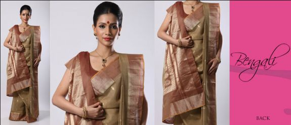 bengali sari style