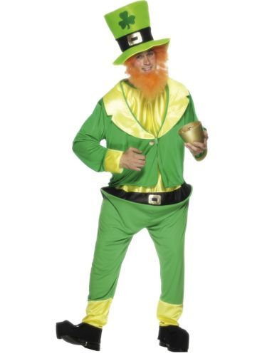Adult Funny St Patricks Lucky Irish Leprechaun Mens Fancy Dress Costume Outfit (26148) |
