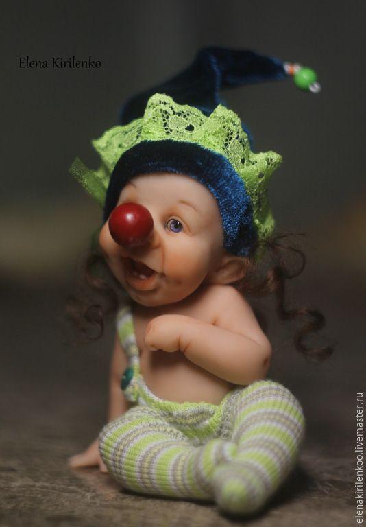"Купить ""Christopher"" - синий, клоун, living doll, хлопок, хлопок 100%"
