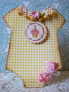 Baby Onesie Shaped Card