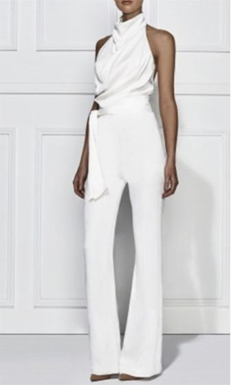 Images of White Jumpsuit Womens - Reikian