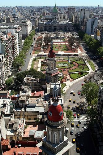 Buenos Aires, Argentina.  The Congress Square and The Congress building on the back