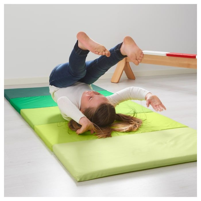 PLUFSIG Folding gym mat, green