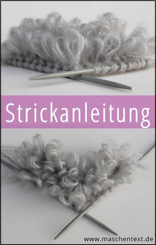 ♥ Fluffy Flokati ♥ Gratisanleitung Schlingen Flor stricken // Strickmuster / Wolle / Handarbeit / Strickblog / Strickanleitung / DIY /