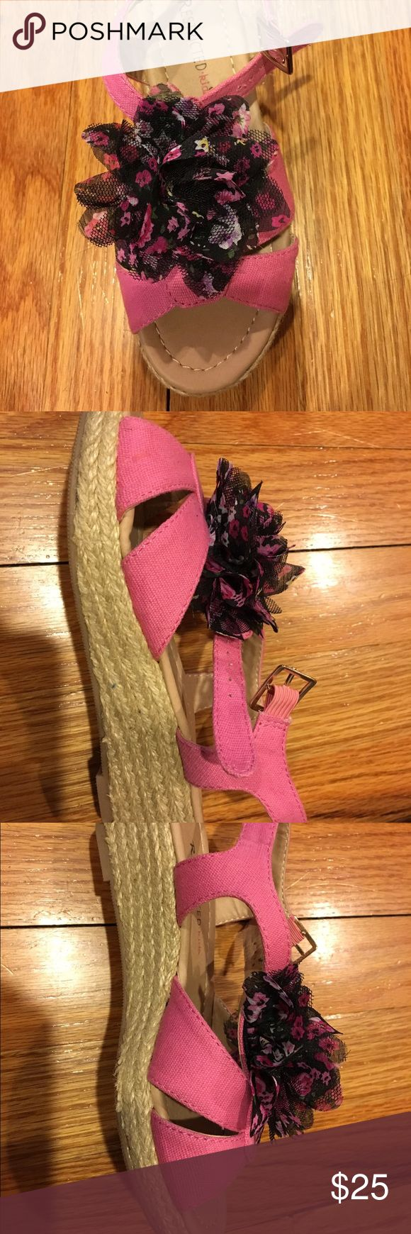 "Girls pink espadrilles Adorable and fun Girls pink espadrilles by ""Restricted kids"" brand Restricted Shoes Sandals & Flip Flops"