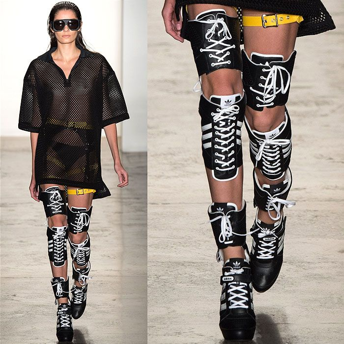 Jeremy Scott Fall 2014 thigh high sneaker boots  for Adidas