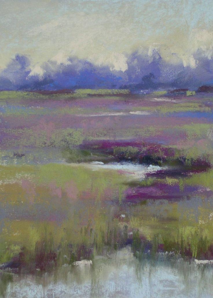 Painting My World: April 2007.  Karen Margulis.  Hazy Morning on the Marsh