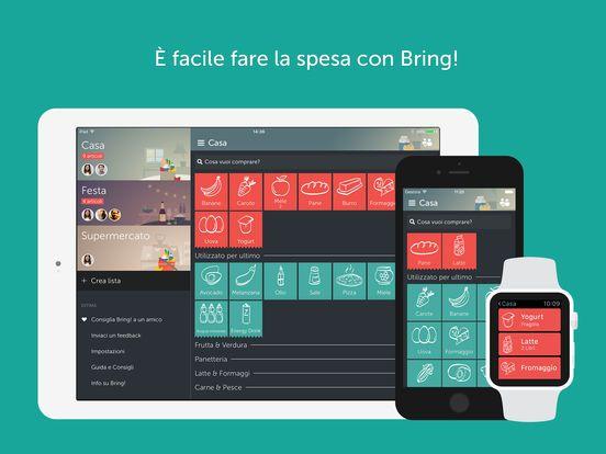Bring! scrivere la lista della spesa in pocchi secondi e in codivisione con Apple Watch | appleiDea