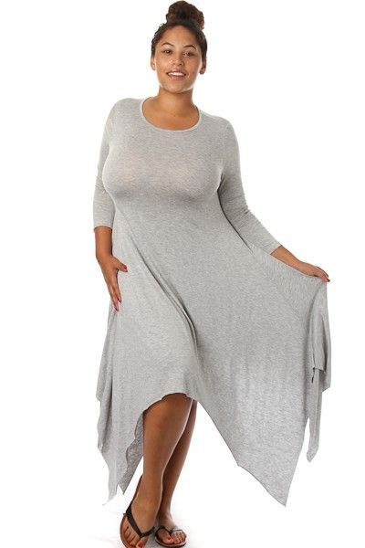 Plus Size Cutting Corners Long Dress