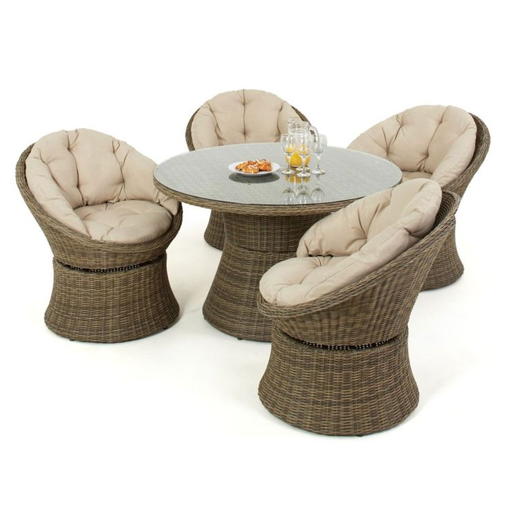 maze rattan 4 seat winchester swivel garden furniture set